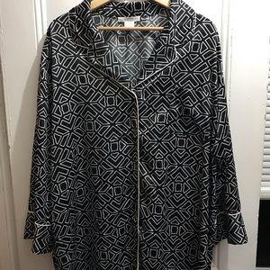 Natori silky notch collar sleep shirt